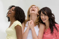 laughing women friendship greetings