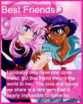 anime best friends quote card