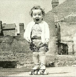 I was always a happy soul. Aged 2 on an unidentified London Bombsite