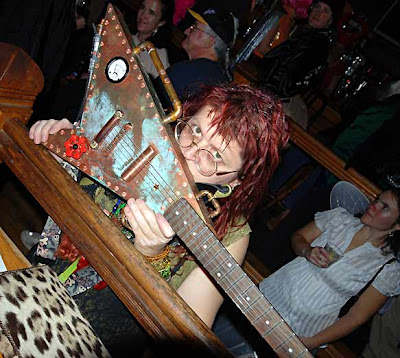 Ellie with steampunk Flying V