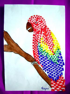 Aspiring Art Paper Weaving Technique