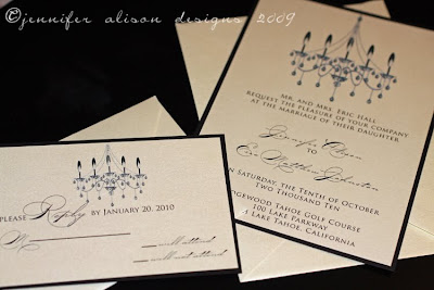 Chandelier Wedding Invitations on Lots Of New Custom Wedding Invitation Designs    Jennifer Alison