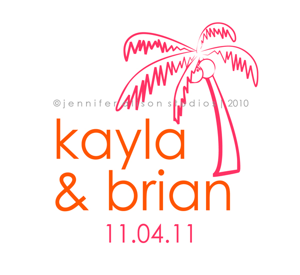 Kayla Brian custom wedding monograms