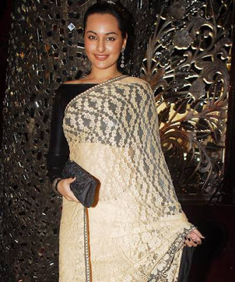 bollywood actress sonakshi singh in saree photos