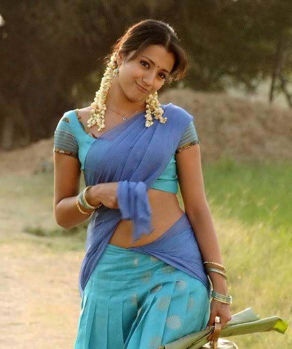 trisha krishnan in half saree hot images
