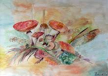 Mijn eerste werk aquarel (Laren nh 2007)