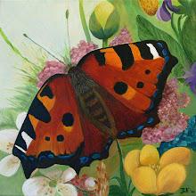 Vlinder acryl op doek