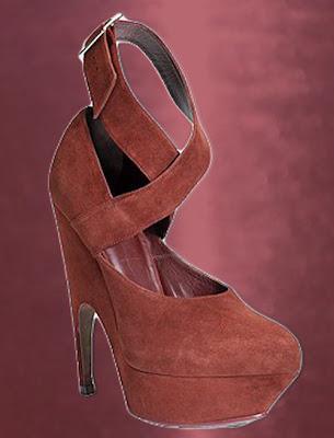 Ysl Vintage Shoes Flat Red Velvet