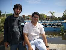 El poeta Nicolás Antonioli y ADM en Monte Hermoso