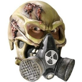 Scary Adult Toxic Death Biohazard Vinyl 3/4 Face Mask Adult Standard