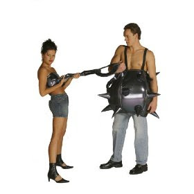 ball and chain set funny halloween costume couples costume be connected to your better half with this comical costume metallic lameu0027 on foam