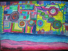 """A place in Hamilton"" Inspired by Hundertwasser"