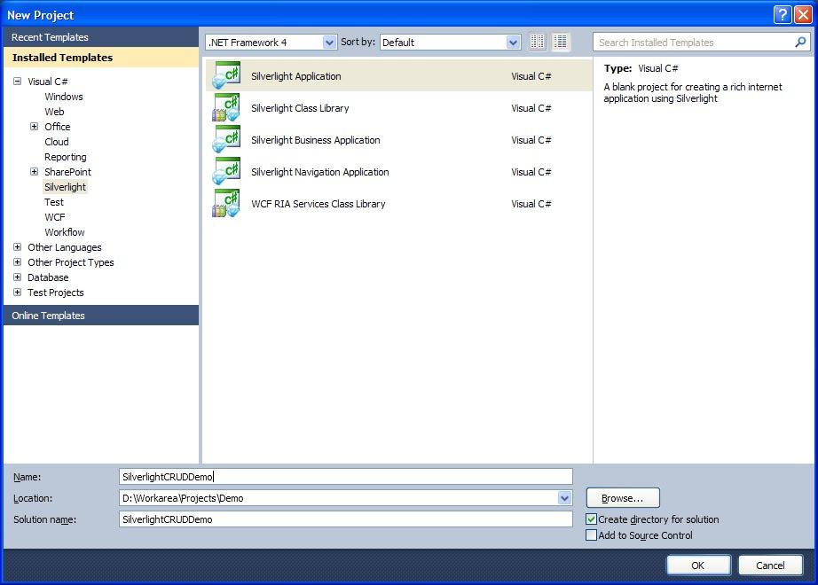 Silverlight Application using MVVM-CRUD Operation ...