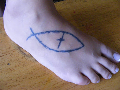 Jesus Fish #5. Jesus Fish Tattoo #5. Reproduced With Permission From Trey