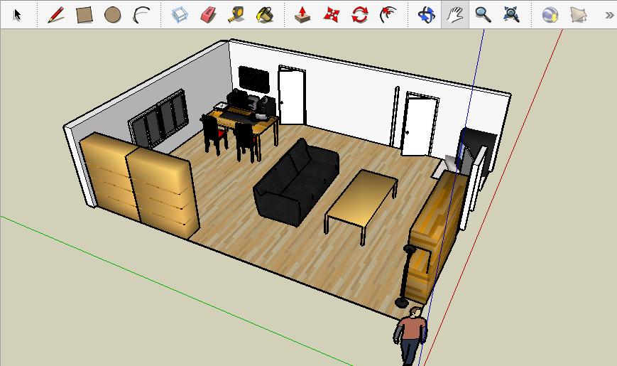 Sala en 3d para dibujar imagui for Programa para dibujar en 3d