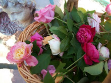 Roses from my garden gathered just for you, sweet friends!!!