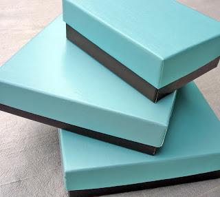 Aqua Favor Boxes