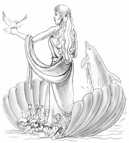 Aphrodite. Aphrodite is the goddess of love and beauty.