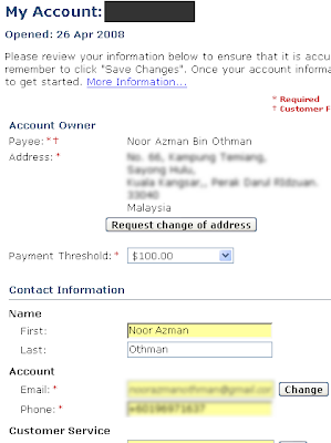 My Account with ClickBank