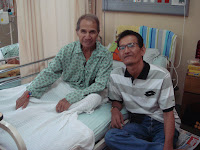With my Father on University Hospital's bed in Petaling Jaya - March 4th, 2009