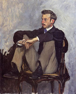 Renoir pintado por Frédéric Bazille