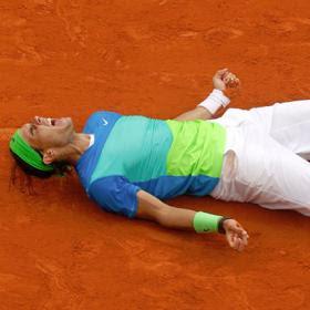 Rafa Nadal tras conseguir su quinto Rolland Garros