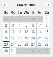Calendar Component