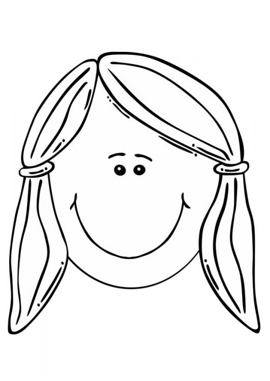 Lamina para colorear de cara de niño y niña - Imagui