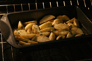 roast potato, food, oven roast