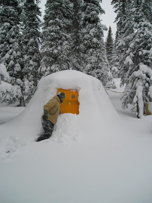 Check out the snow load on this tent! & Alaska Tent and Tarp Home of the Arctic Oven: Check out the snow ...