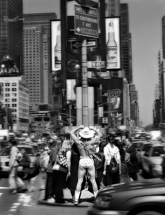 Naked  Cowboy, Time Square, NYC