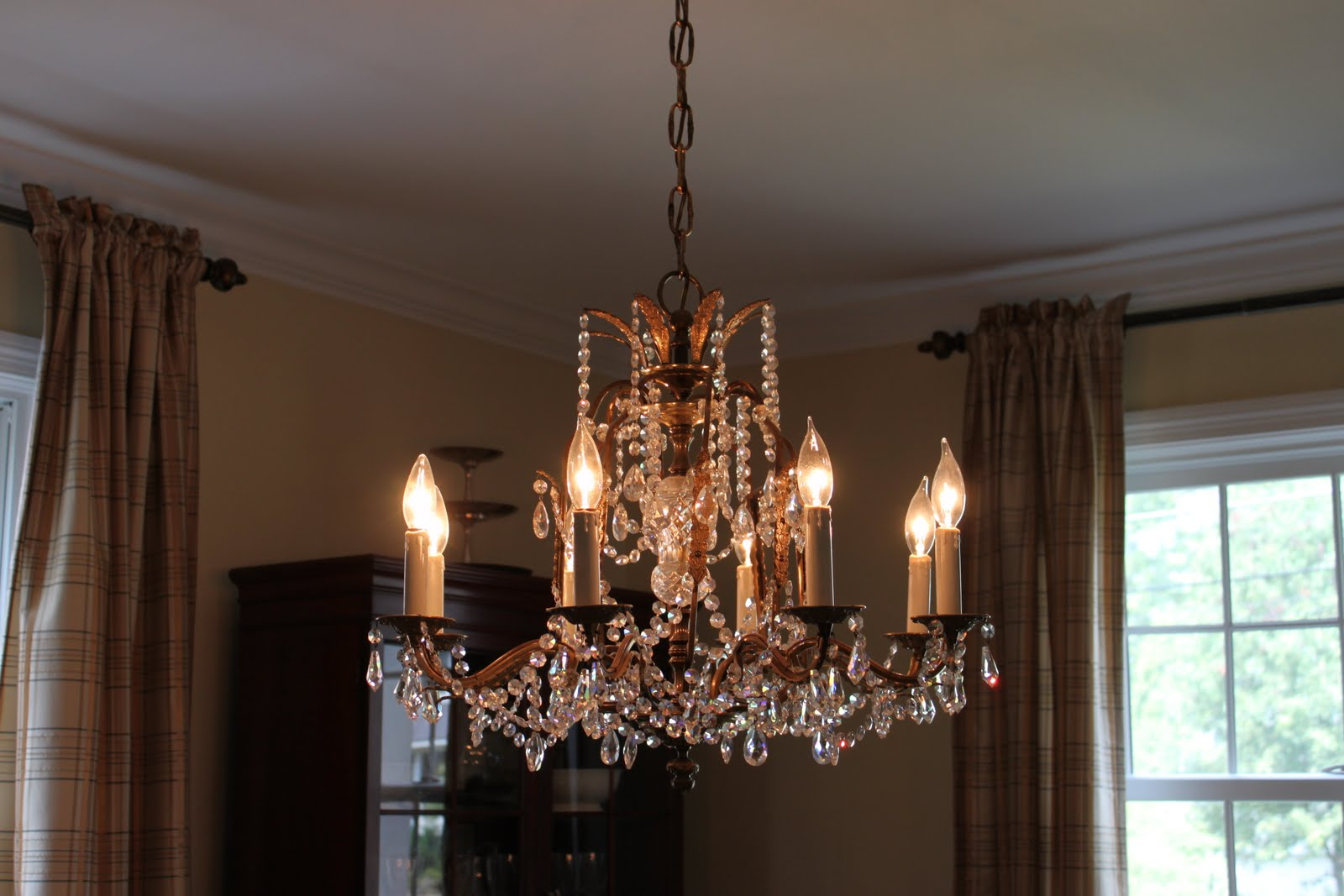 Houseography lighting things up easy chandelier upgrade chandelier bulbs and they would look really bad bare and exposed aloadofball Image collections