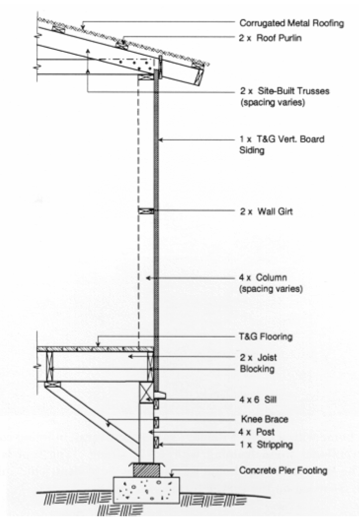 how to draw an exterior wall