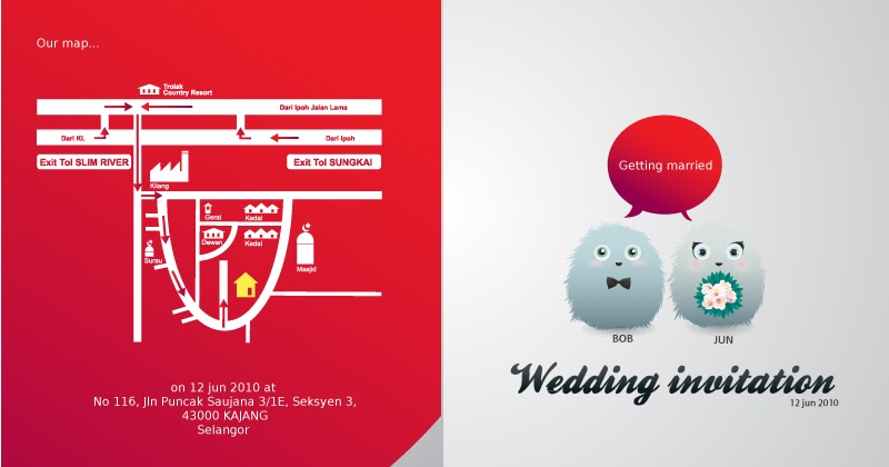 Johari Sahlan: customized wedding card template....design 1