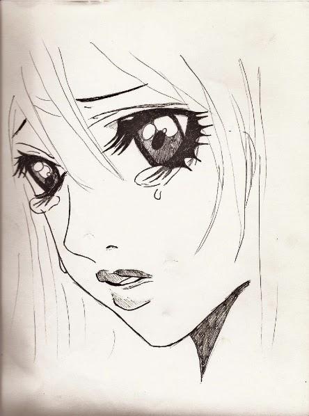 Animes Tristes Para Colorear