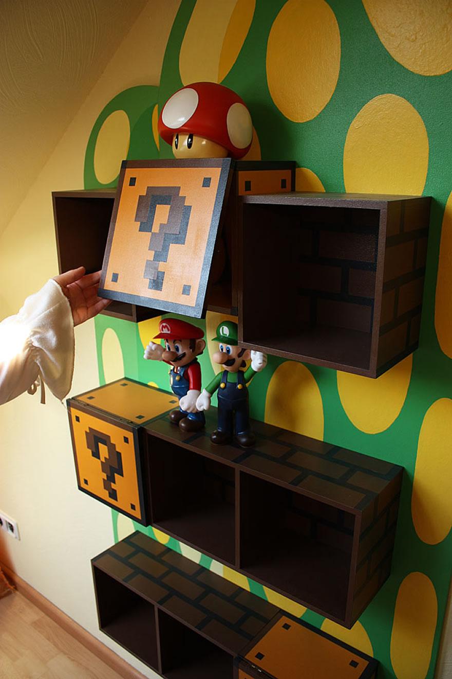 Repisas con estilo gamer dise o estudio for Diseno de habitacion gamer
