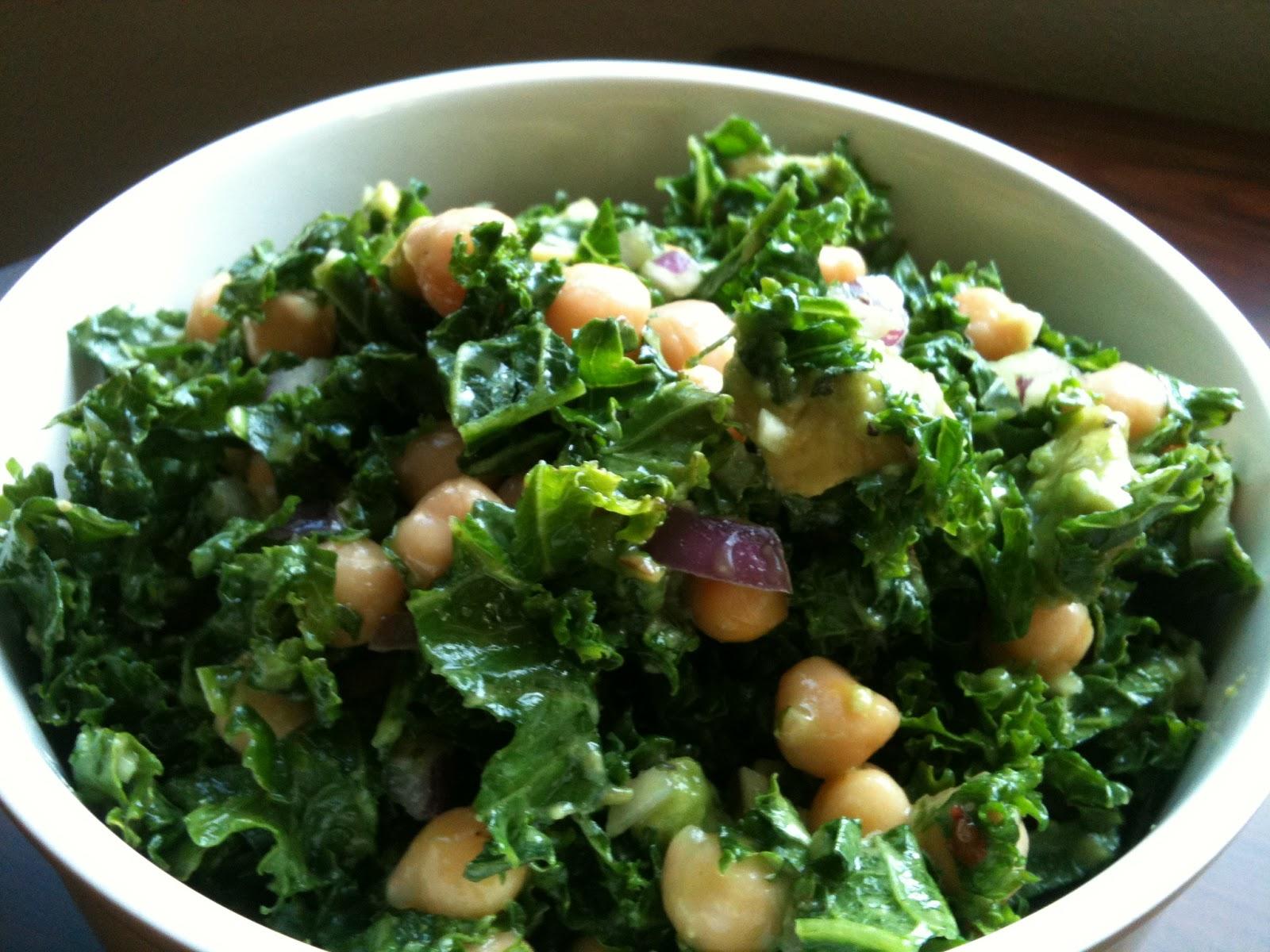 talk to food: Chickpea, Avocado + Kale Salad