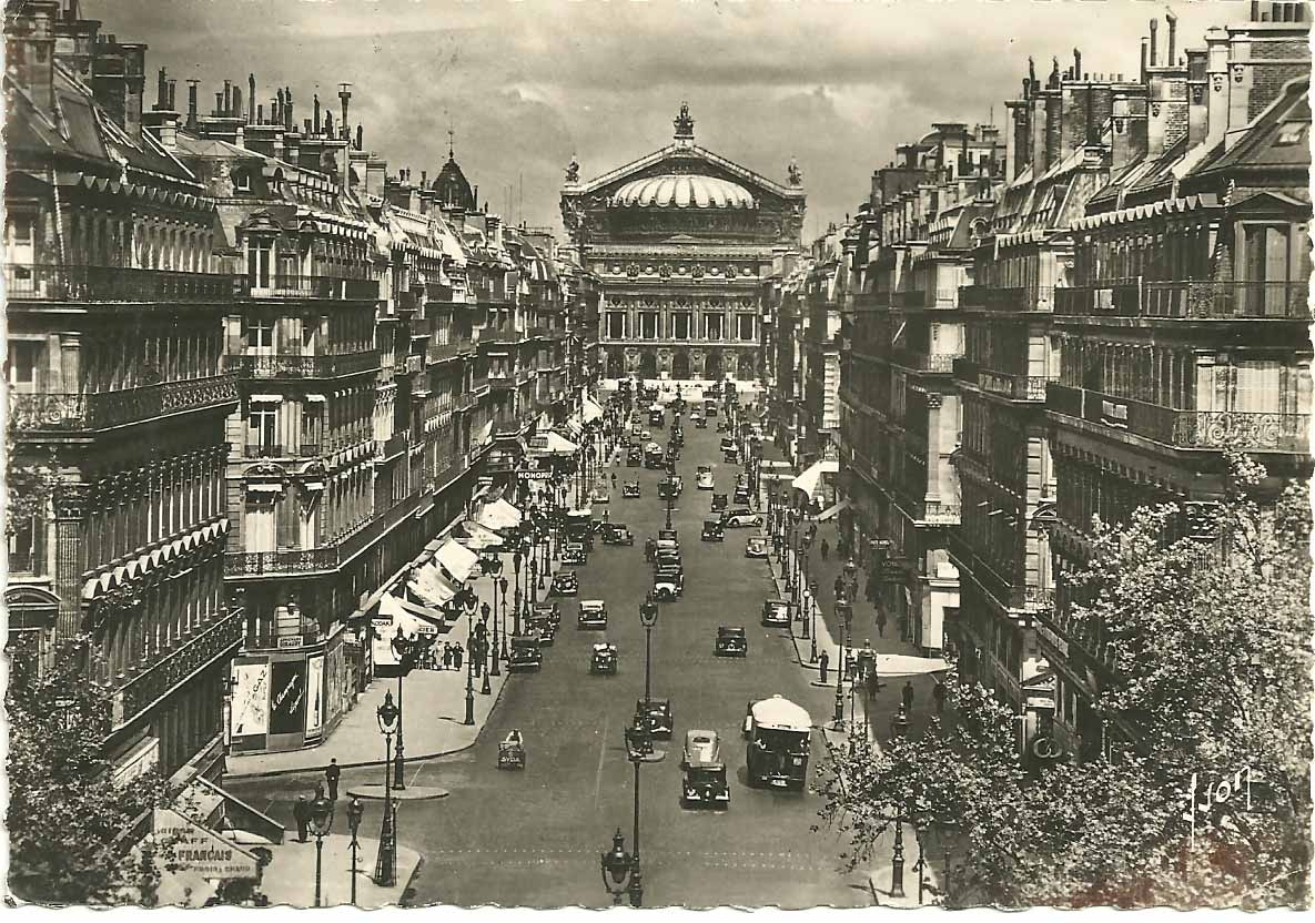 France+Paris+Avenue+de+l%27Opera+postcard.jpg (1185×832)