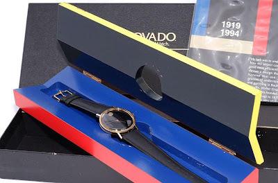 Limau tambun movado 1994 gold plated museum watch for Bauhaus replica deutschland