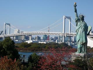 Rainbow Bridge, from Odaibia, Tokyo Japan