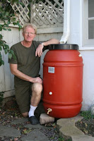 Ed Begley and rain barrel