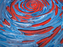 Blue Swirl - Market Paintings