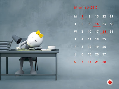 calendar 2010 march. March - Zoo Zoo preparing for