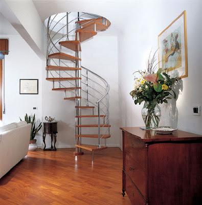 Todas decoracion de la casa: escaleras de caracol
