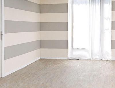 The Home Populars: Paso a paso para pintar una pared a rayas