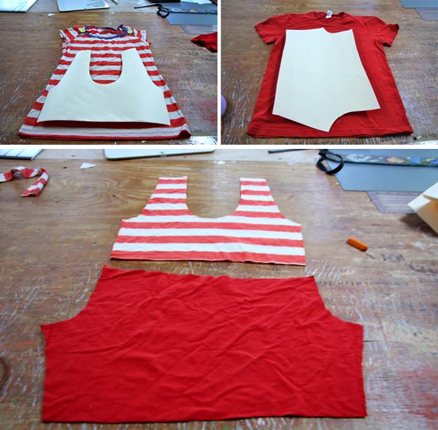 Disfraz de payaso casero con retales y pantaln pintado for Retales papel pintado