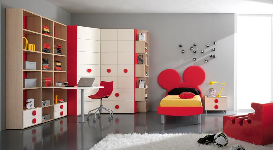 Dormitorios modelos italianos pentamobili para ni os - Muebles de mickey mouse ...
