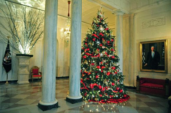 Web de la navidad as ha decorado michelle obama la casa - Arbol navidad casa ...