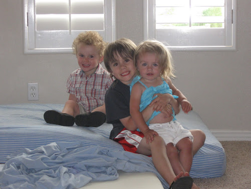Jake and Coco with Cousin Tyler hanging out in St. George