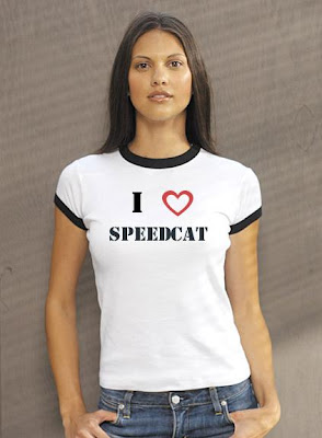 amy joy has a speedcat hollydale t shirt!